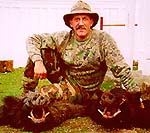 Angelo Nogara with 2 Wild Boars